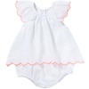 yoya kids and baby bonheur du jour tiny overall puff sleeves girl bloomers white summer casual formal