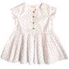 simple kids dotty button down dress