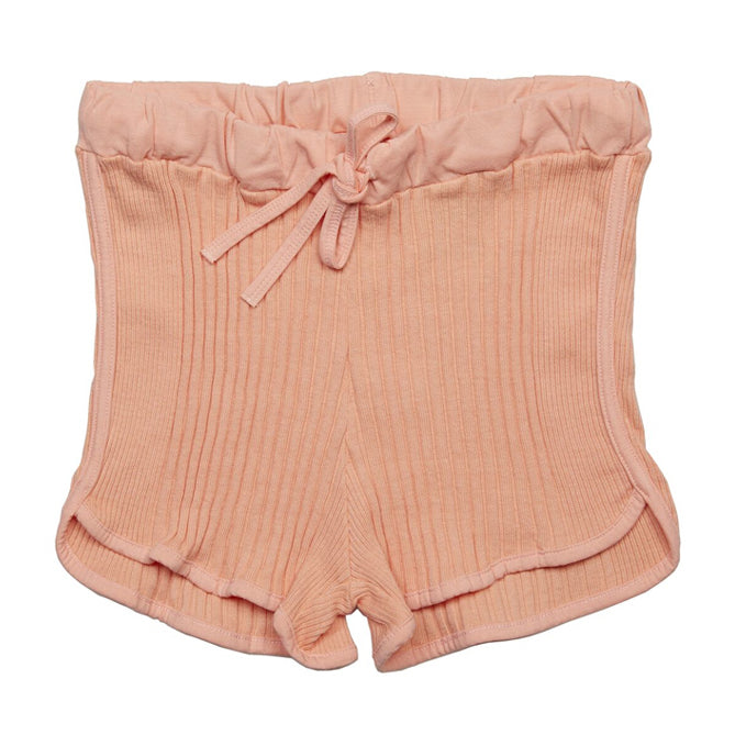 yoya, kids, girls, sunchild, summer, casual, lounge, pull on, drawstring, ribbed, soft shorts