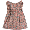 yoya kids bonheur du jour luce dress pink floral pattern girls summer ruffle sleeves formal