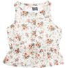 tocoto vintage sleeveless flowered blouse