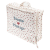 tocoto vintage strawberry toiletries bag