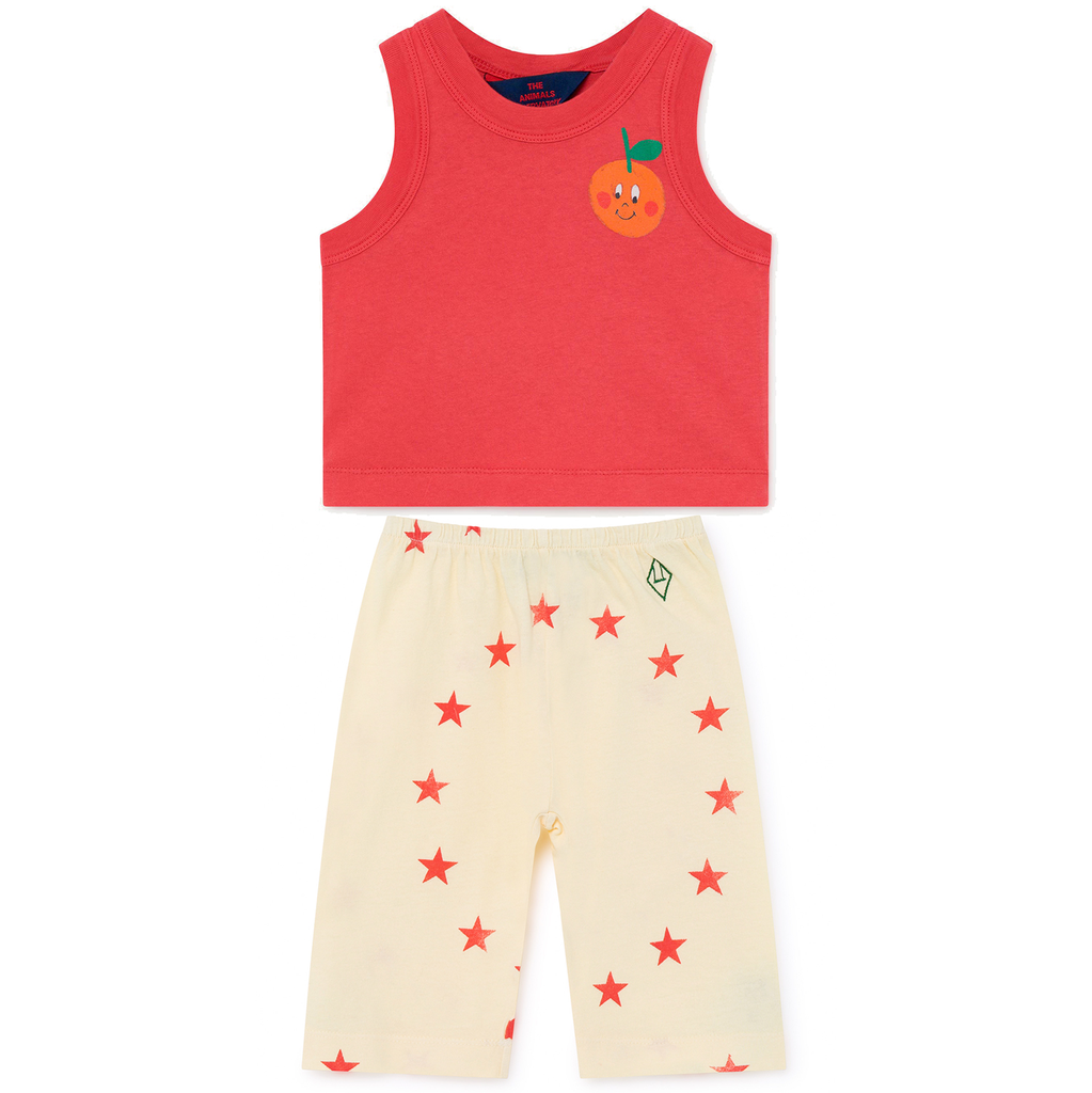 yoya, kids, baby, girls, boys, tao, the animals observatory, lightweight, casual, summer, logo, graphic print, tank top, harem pants, outfit set
