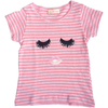 simple kids lashes striped tee shirt