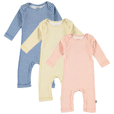 yoya kids childrens kidscase roman jumpsuit round neckline long sleeve spring stripes more colors summer baby girl boy lounge casual