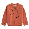 bobo choses hearts zip sweatshirt