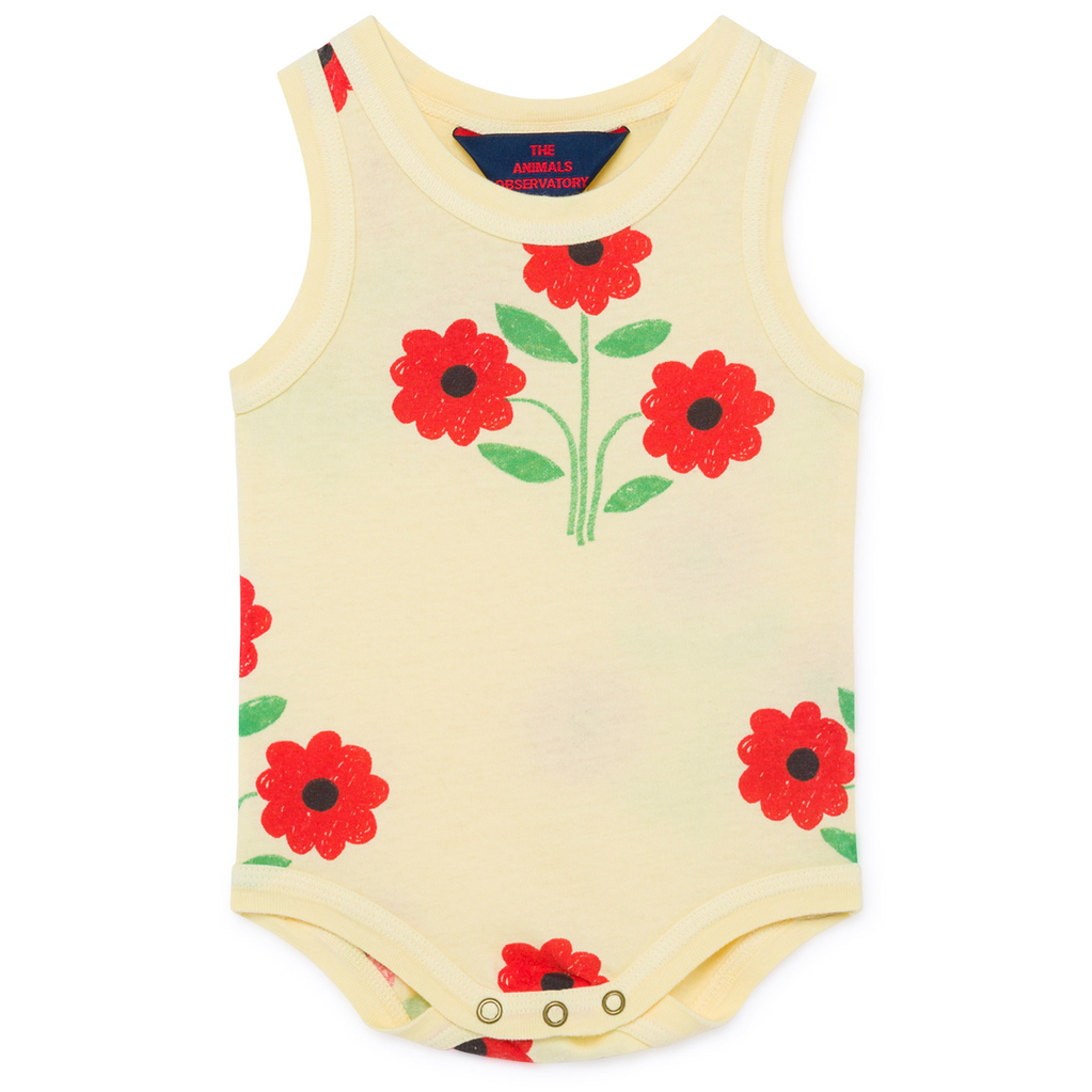 yoya, kids, baby, girls, boys, tao, the animals observatory, lightweight, casual, summer, lounge, graphic printed, tank top, bodysuit