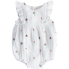 yoya kids and baby bonheur du jour zoe romper white girls sleeveless ruffled top floral embroidery casual summer formal