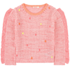 yoya kids billieblush ruffles and pompoms sweater pink summer girls casual