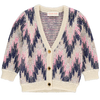 simple kids waves cardigan