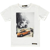 finger in the nose surf car t-shirt