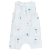 yoya kids and baby bonheur du jour pahoa overall white tropical theme pattern nature casual summer