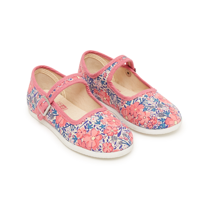 bonton floral quilted mary janes