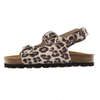 tocoto vintage animal print ankle strap sandals