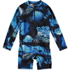 yoya, kids, girls, boys, molo, summer, long sleeved, graphic print, zip up, swim, surf suit, bathing suit