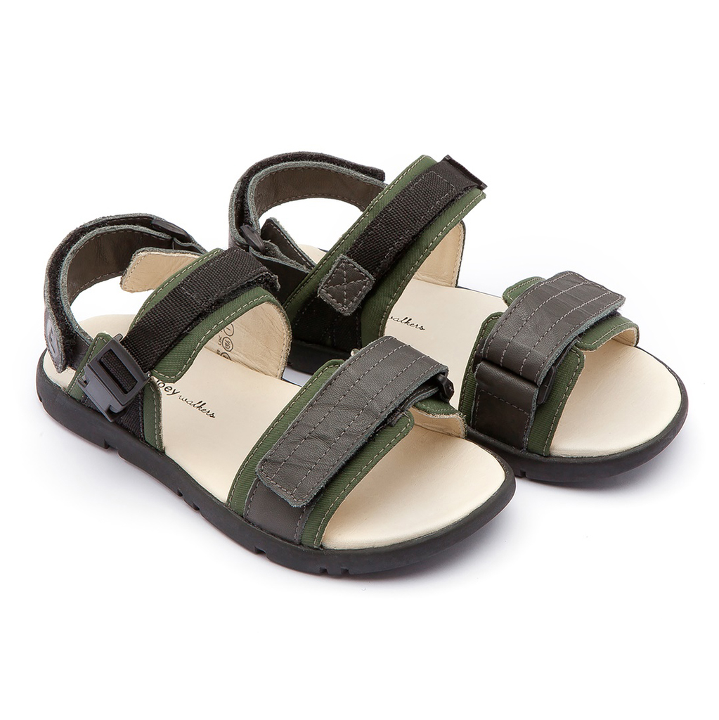 yoya kids childrens boys tip toey joey soldier sandals summer casual velcro sporty sandals