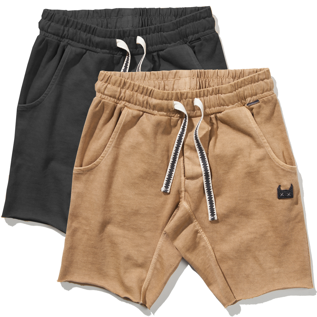 yoya, kids, boys, munsterkids, summer, lightweight, cut off, pull on, drawstring, sweat shorts