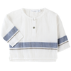 tocoto vintage button stripe baby shirt