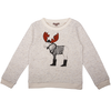 emile et ida fancy moose baby sweatshirt