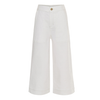 yoya, kids, girls, molo, summer, light weight, casual, high waisted, wide leg, sailor pants, white jeans