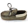 pepe metallic shearling mocassins