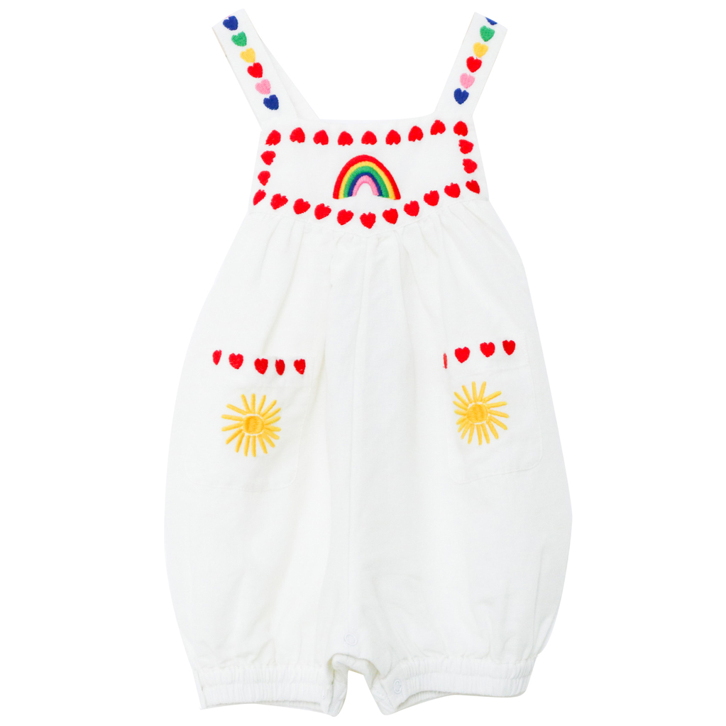 yoya, kids, baby, girls, stella mccartney, summer, tank top, legless, embroidered, icon, bubble, romper
