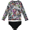 molo neptune/nikki rash guard bikini set