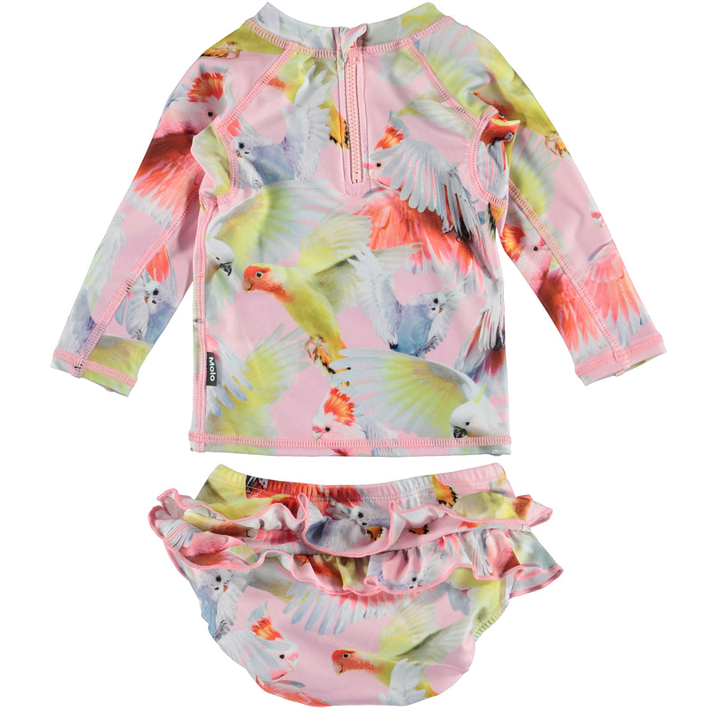 yoya, kids, baby, girls, molo, summer, swim, two piece, rash guard, bathing suit, set