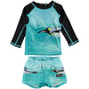 yoya, kids, baby, boys, girls, molo, summer, swim, rash guard, two piece, bathing suit, set