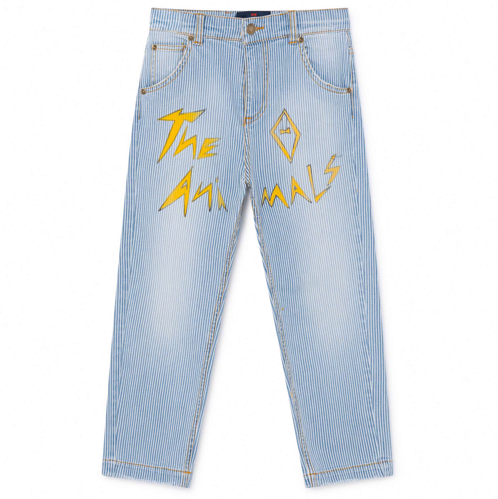 yoya, kids, girls, boys, tao, the animals observatory, lightweight, casual, summer, logo, slogan, straight leg, jeans