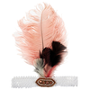 tutu du monde dancing diva feather headband, marshmallow