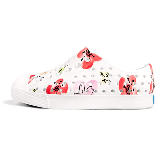 yoya kids childrens native jefferson printed slip-ons floral pattern shoes summer