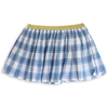 simple kids nutella plaid skirt