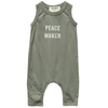 yoya, kids, baby, go gently nation, casual, summer, lounge, slogan, one piece, romper, onesie