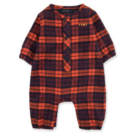 tiny cottons checked one-piece