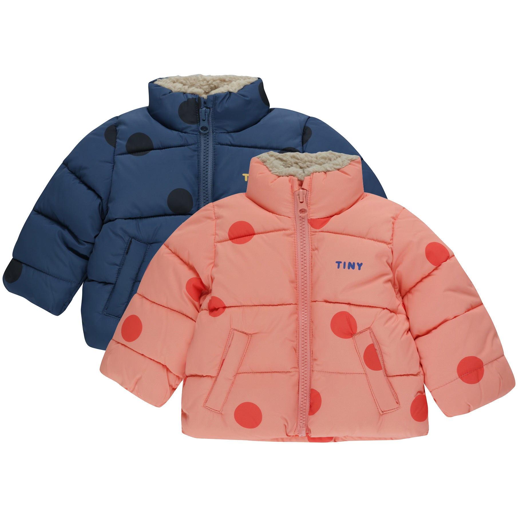tiny cottons big dots padded baby jacket