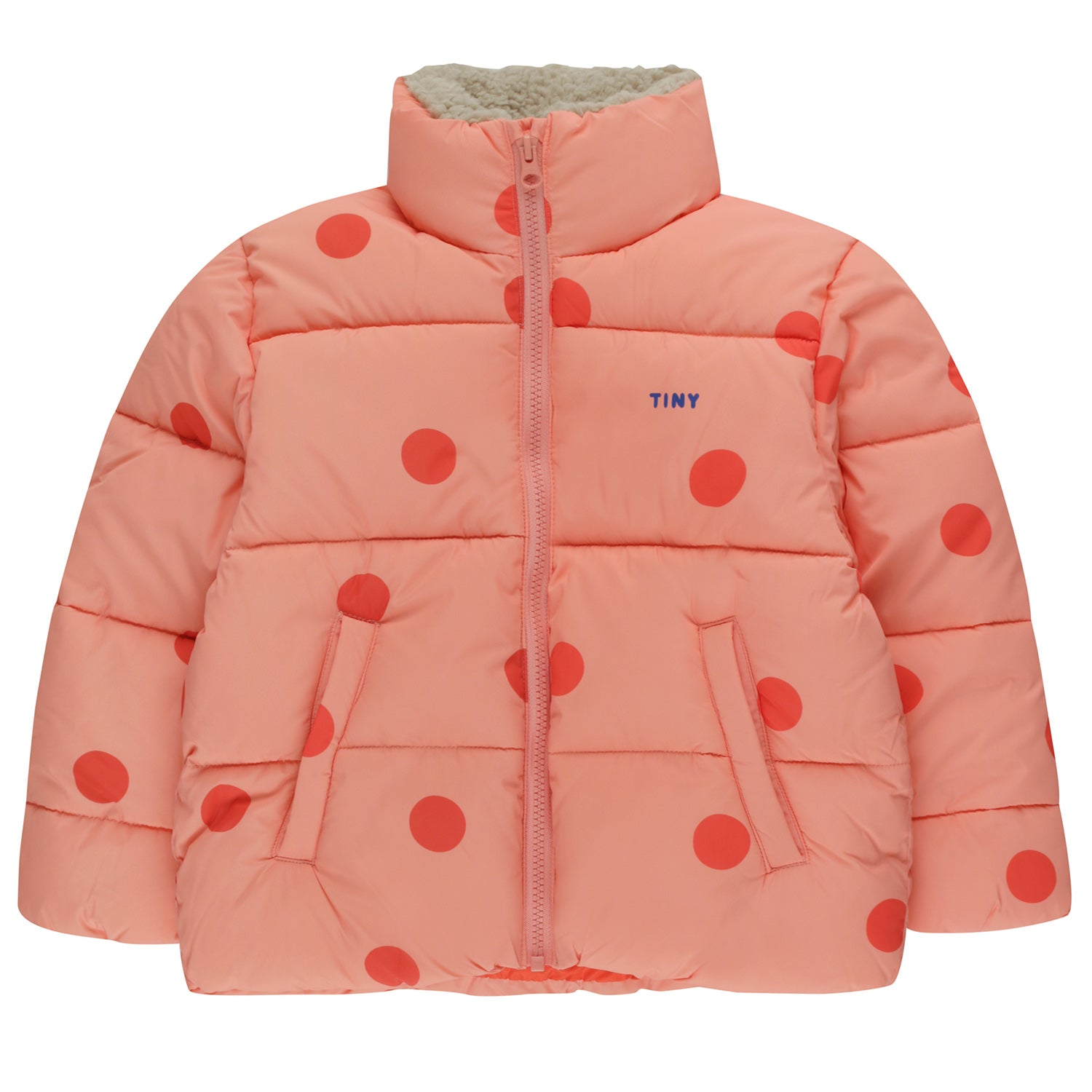 tiny cottons big dots padded jacket