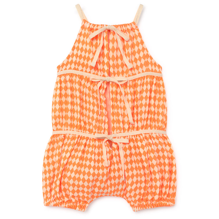 yoya, kids, baby, girls, little creative factory, summer, casual, harlequin, tank top, bubble, romper
