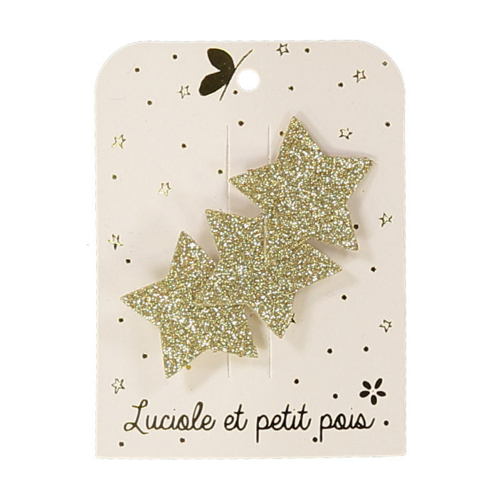 luciole et petit pois single glitter clip (more colors)