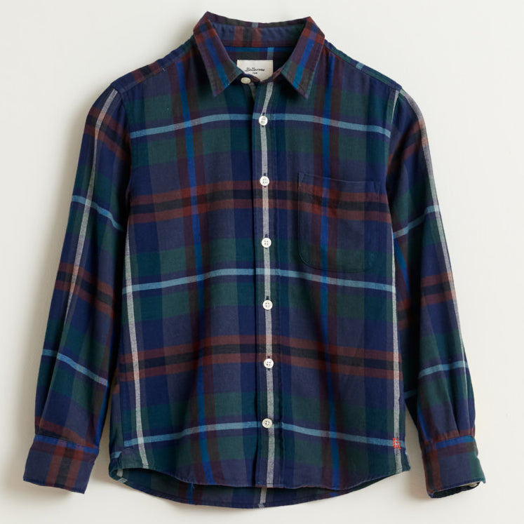 bellerose gaspar plaid button front shirt