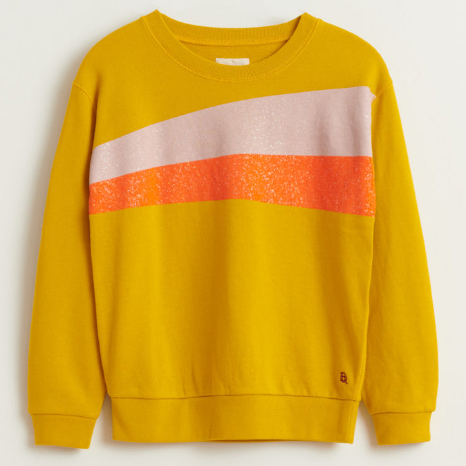 bellerose banzi striped sweatshirt