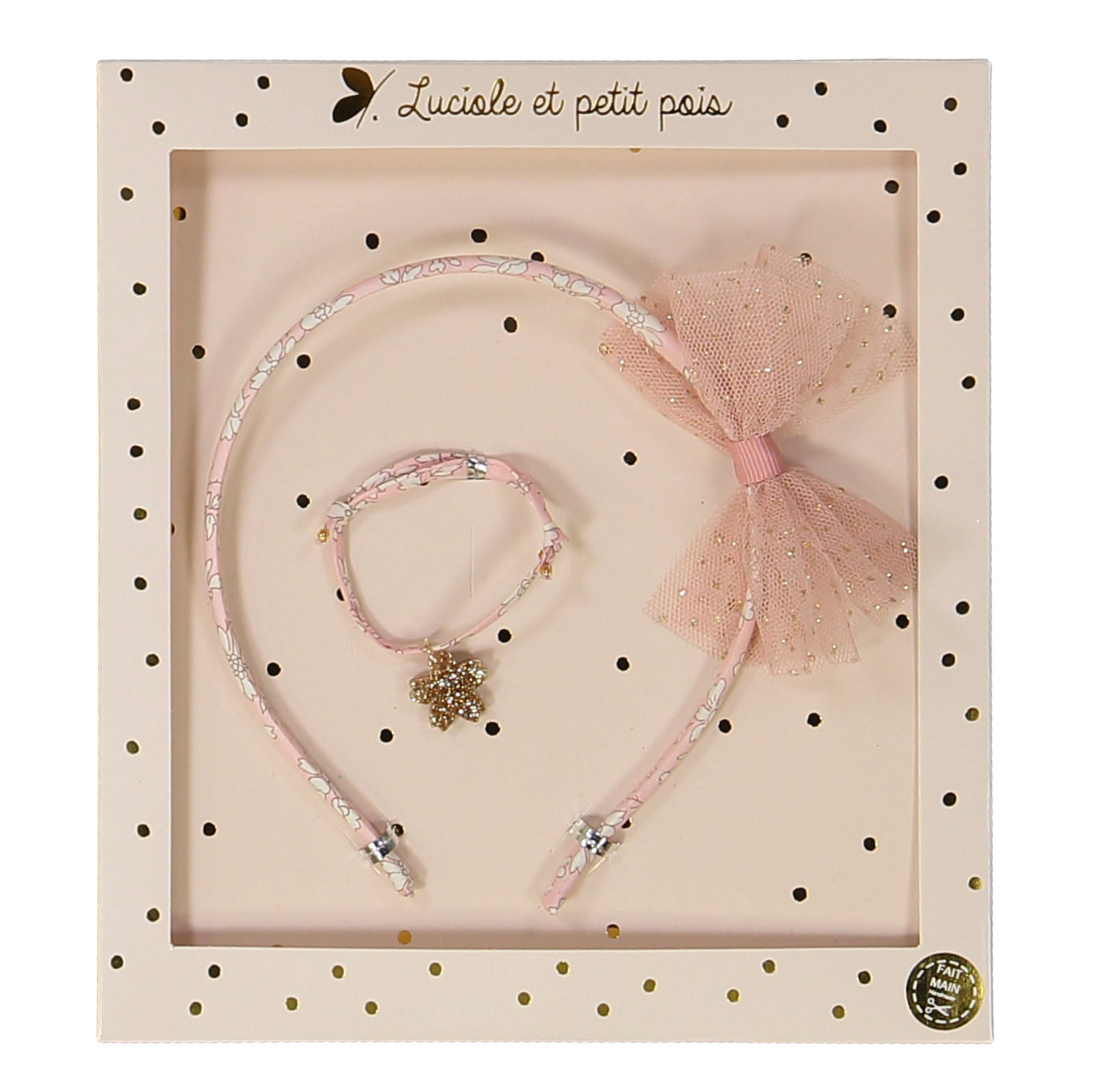 luciole et petit pois headband and bracelet set (more colors)