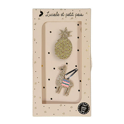 luciole et petit pois hair clip pairs (more colors)