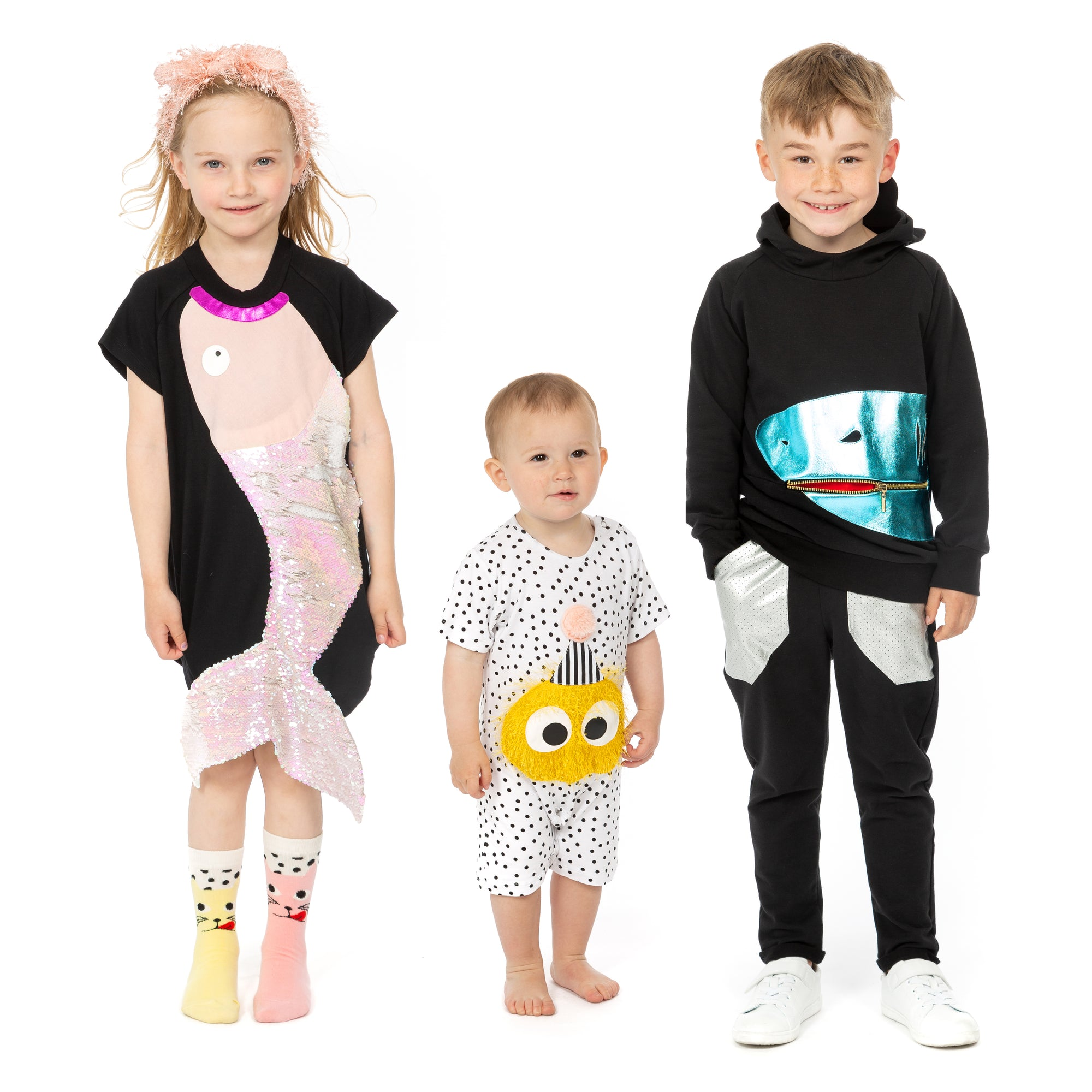 yoya, kids, girls, wauw capow, bangbang copenhagen, casual, summer, lounge, coverup, appliqué, sequined, tunic, dress