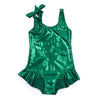 bonton glitter one piece bathing suit