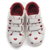 bonton embroidered heart sneakers