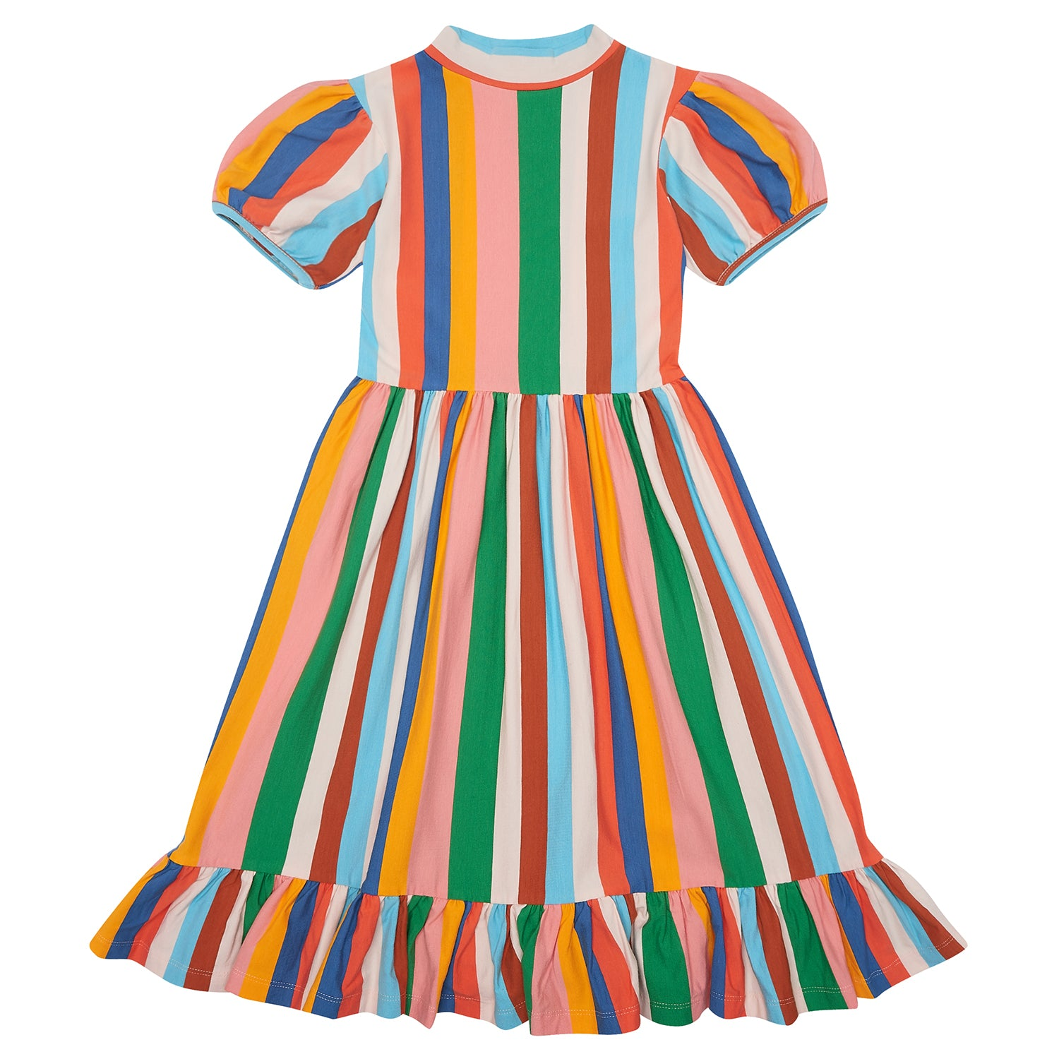 yoya, kids, girls, the middle daughter, summer, lightweight, casual, ruffle hem, short sleeved, jersey cotton, midi dress