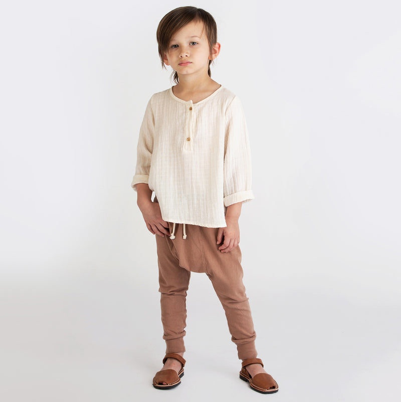 yoya, kids, boys, girls, go gently nation, gauzy cotton, summer, casual, button front, long sleeved shirt