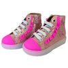 yoya kids maa bora bora high-tops pink ruffles shoes girls
