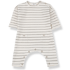 yoya baby and kids one more in the family baby white and taupe striped jumpsuit lounge casual